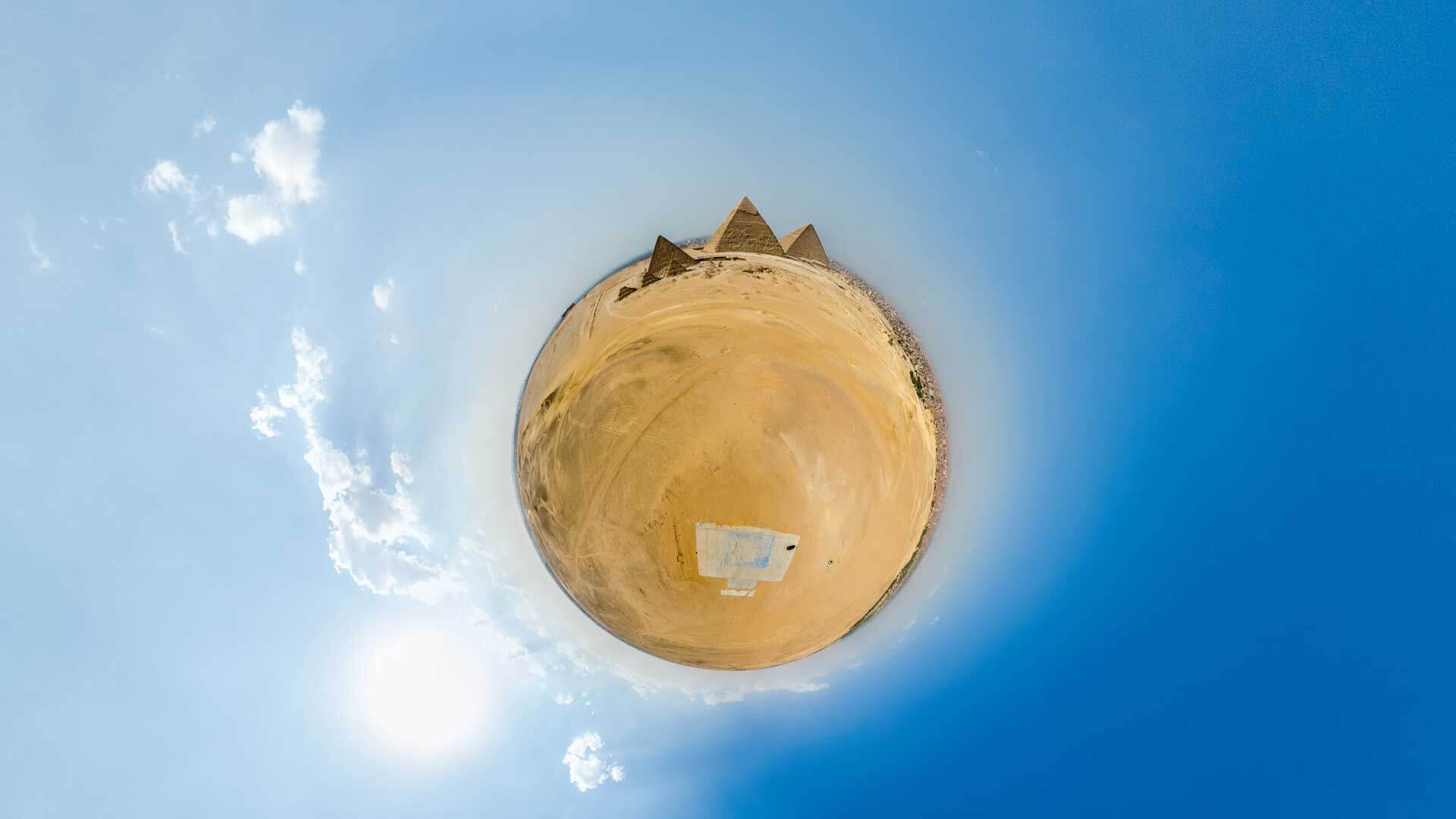 pyramids aerial pano Panorama3 Virtual Reality 360º Production company